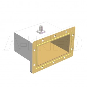 650WCAN_DM Right Angle Rectangular Waveguide to Coaxial Adapter 1.12-1.7GHz WR650 to N Type Female