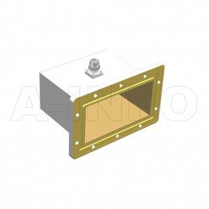 510WCANM_DM Right Angle Rectangular Waveguide to Coaxial Adapter 1.45-2.2GHz WR510 to N Type Male