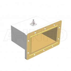 650WCAS_DM Right Angle Rectangular Waveguide to Coaxial Adapter 1.12-1.7GHz WR650 to SMA Female