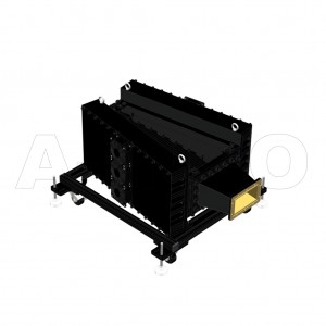 650WHPL5500F_DM WR650 Waveguide High Power Load 1.12-1.7GHz with Rectangular Waveguide Interface
