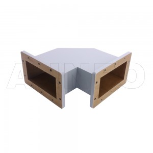 650WTHB-180-180 WR650 Miter Bend Waveguide H-Plane 1.12-1.7GHz with Two Rectangular Waveguide Interfaces