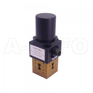 750DRWDESMD WRD750 Double Ridge Waveguide DPDT Latching Switch 7.5-18GHz E plane with four Double Ridge Waveguide Interfaces