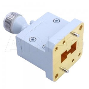 750DRWECAN_Cu Endlaunch Double Ridge Waveguide to Coaxial Adapter 7.5-18GHz WRD750 to N Type Female