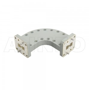 750DRWHB-60-60_Cu WRD750 Double Ridge Bend Waveguide H-Plane 7.5-18GHz with Two Double Ridge Waveguide Interfaces