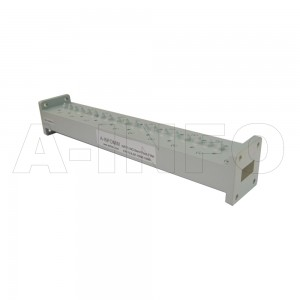75LB-BP-10090-10680 WR75 Waveguide Band Pass Filter 10-15Ghz with Two Rectangular Waveguide Interfaces