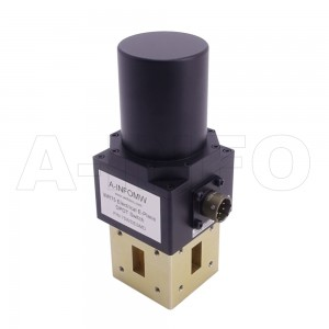 75WDESMD WR75 Rectangular Waveguide DPDT Latching Switch 10-15GHz E plane with four Rectangular Waveguide Interfaces