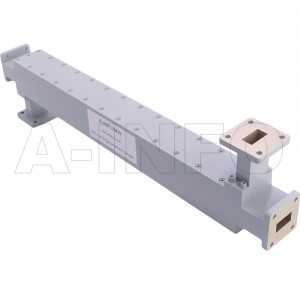 75WDXC-50 WR75 Waveguide High Directional Coupler WDXC-XX Type E-Plane Bend 10-15GHz 50dB Coupling with Four Rectangular Waveguide Interfaces