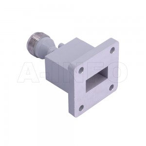 75WECAN Endlaunch Rectangular Waveguide to Coaxial Adapter 10-15GHz WR75 to N Type Female