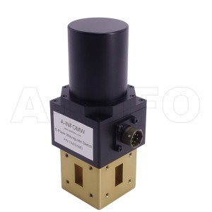 75WESMD WR75 Rectangular Waveguide SPDT Latching Switch 10-15GHz E plane with three Rectangular Waveguide Interfaces