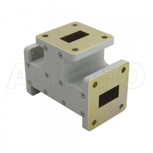 51WET WR51 Waveguide E-Plane Tee 15-22GHz with Three Rectangular Waveguide Interfaces