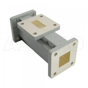 75WOMTS16.0-06 WR75 Waveguide Ortho-Mode Transducer(OMT) 10-13GHz 16mm(0.63inch) Square Waveguide Common Port