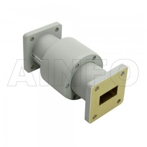 75WRJI-26A WR75 I-Type Single Channel Waveguide Rotary Joint 12-15GHz with Two Rectangular Waveguide Interfaces