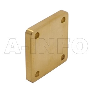 75WS_Cu WR75 Waveguide Short Plates 10-15GHz with Rectangular Waveguide Interface