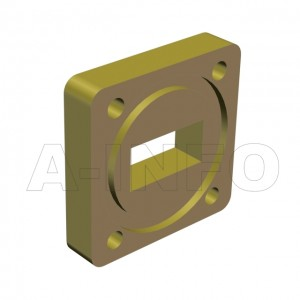 75WSPA14_Cu_BMBM WR75 Wavelength 1/4 Spacer(Shim) 10-15GHz with Rectangular Waveguide Interfaces