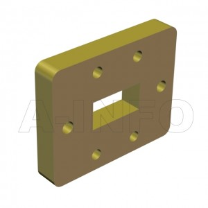 75WSPA14_Cu_DP WR75 Wavelength 1/4 Spacer(Shim) 10-15GHz with Rectangular Waveguide Interfaces