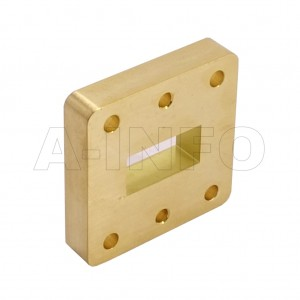 75WSPA14_Cu WR75 Wavelength 1/4 Spacer(Shim) 10-15GHz with Rectangular Waveguide Interfaces