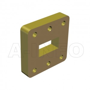 75WSPA14_Cu_PB WR75 Wavelength 1/4 Spacer(Shim) 10-15GHz with Rectangular Waveguide Interfaces