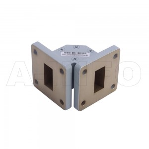 75WTEB-25-25 WR75 Miter Bend Waveguide E-Plane 10-15GHz with Two Rectangular Waveguide Interfaces