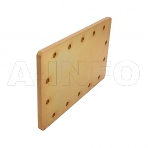 770WS WR770 Waveguide Short Plates 0.96-1.45GHz with Rectangular Waveguide Interface