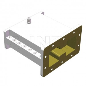 84DRWHCAN Right Angle High Power Double Ridge Waveguide to Coaxial Adapter 0.84-2GHz WRD84 to N Type Female