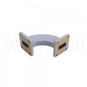 90WHB-55-55-35 WR90 Radius Bend Waveguide H-Plane 8.2-12.4GHz with Two Rectangular Waveguide Interfaces