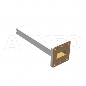 90WMPL25_PB WR90 Waveguide Low-Medium Power Load 8.2-12.4GHz with Rectangular Waveguide Interface