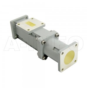 90WOMTC25-26 WR90 Waveguide Ortho-Mode Transducer(OMT) 9.3-12.4GHz 25mm(0.984inch) Circular Waveguide Common Port