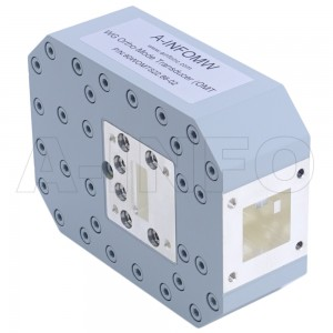 90WOMTS22.86-02 WR90 Waveguide Ortho-Mode Transducer(OMT) 8.2-12.4GHz 22.86mm(0.9inch) Square Waveguide Common Port