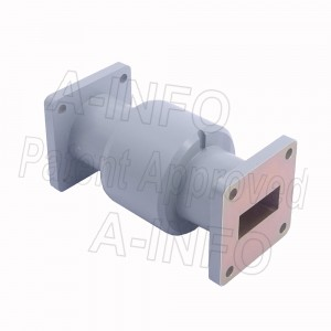 90WRJI-06A WR90 I-Type Single Channel Waveguide Rotary Joint 8.5-10GHz with Two Rectangular Waveguide Interfaces