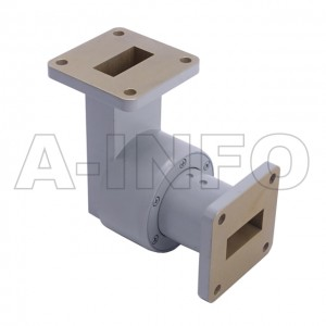 90WRJL-06A WR90 L-Type Single Channel Waveguide Rotary Joint 8.5-10GHz with Two Rectangular Waveguide Interfaces