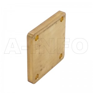 90WS_Cu WR90 Waveguide Short Plates 8.2-12.4GHz with Rectangular Waveguide Interface