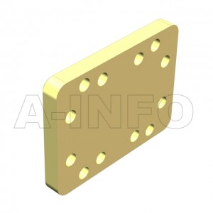 90WS_Cu_P0 WR90 Waveguide Short Plates 8.2-12.4GHz with Rectangular Waveguide Interface
