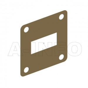 90WSPA-0.1_Cu_BP WR90 Customized Spacer(Shim) 8.2-12.4GHz with Rectangular Waveguide Interfaces