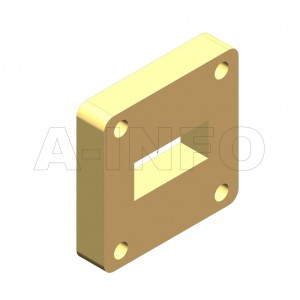 90WSPA-8.5_Cu WR90 Customized Spacer(Shim) 8.2-12.4GHz with Rectangular Waveguide Interfaces