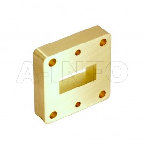 90WSPA14_Cu WR90 Wavelength 1/4 Spacer(Shim) 8.2-12.4GHz with Rectangular Waveguide Interfaces