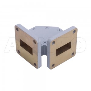 90WTHB-30-30 WR90 Miter Bend Waveguide H-Plane 8.2-12.4GHz with Two Rectangular Waveguide Interfaces