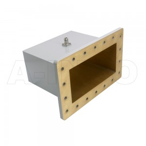 975WCAN Right Angle Rectangular Waveguide to Coaxial Adapter 0.75-1.12GHz WR975 to N Type Female