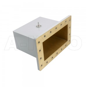 975WCAS Right Angle Rectangular Waveguide to Coaxial Adapter 0.75-1.12GHz WR975 to SMA Female