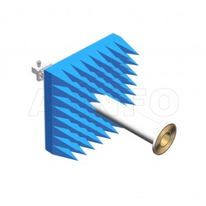 LB-ACH-229-10-C-7-A1 Linear Polarization Corrugated Feed Horn Antenna 3.3-4.9GHz 10dB Gain 7mm Equipped with Absorber