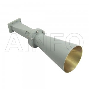 LB-CNH-137-15-A Linear Polarization Conical Horn Antenna 5.85-8.2GHz 15dB Gain Rectangular Waveguide Interface