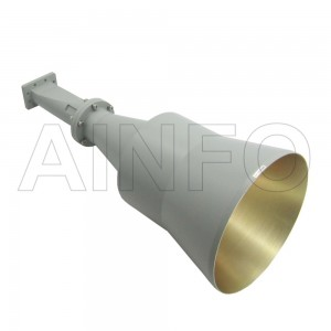 LB-CNH-137-20-A Linear Polarization Conical Horn Antenna 5.85-8.2GHz 20dB Gain Rectangular Waveguide Interface