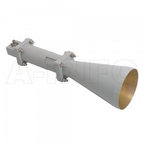 LB-CNH-90-15-C-3.5F Linear Polarization Conical Horn Antenna 8.2-12.4GHz 15dB Gain 3.5 mm Female