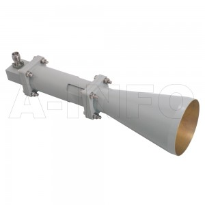 LB-CNH-90-15-C-TF Linear Polarization Conical Horn Antenna 8.2-12.4GHz 15dB Gain TNC Female