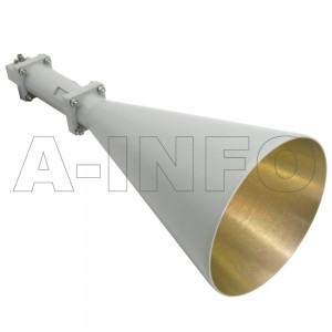 LB-CNH-90-20-C-3.5F Linear Polarization Conical Horn Antenna 8.2-12.4GHz 20dB Gain 3.5 mm Female