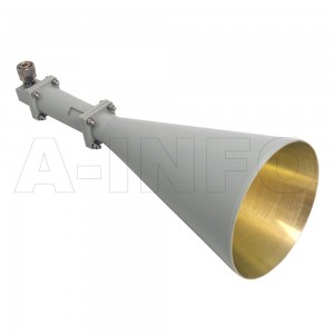 LB-CNH-90-20-C-7 Linear Polarization Conical Horn Antenna 8.2-12.4GHz 20dB Gain 7 mm