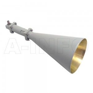 LB-CNH-90-20-C-TF Linear Polarization Conical Horn Antenna 8.2-12.4GHz 20dB Gain TNC Female
